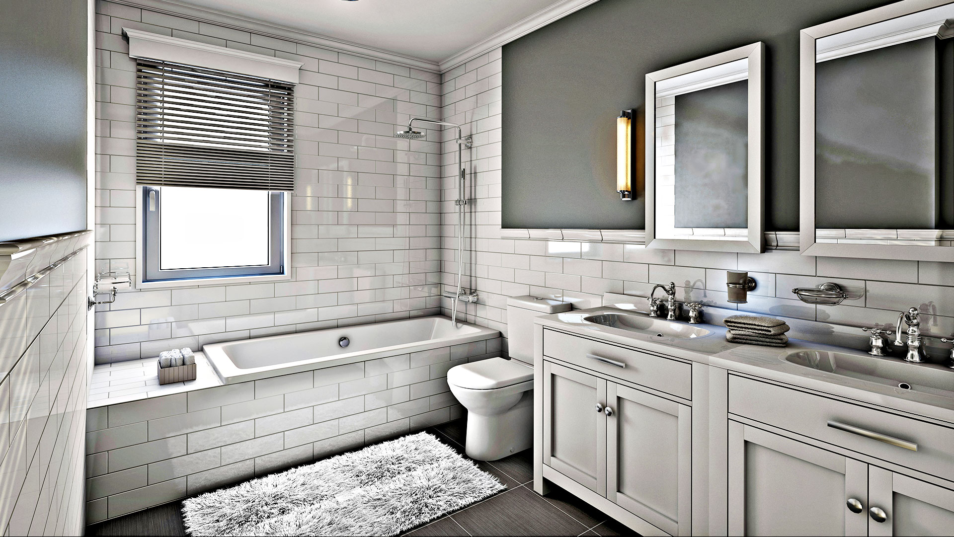 HomePro Services Remodeled Bathroom
